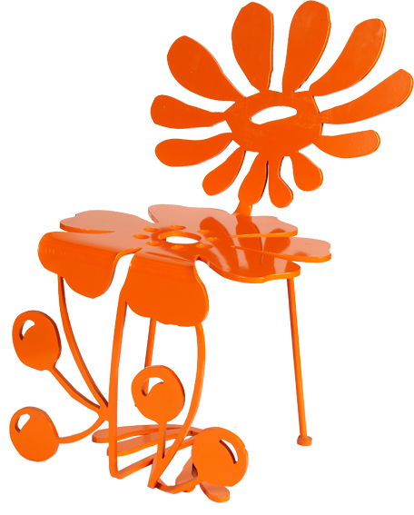 chaise fleur design top framboise with chaise fleur design excellent chaise metal fleur orange. Black Bedroom Furniture Sets. Home Design Ideas