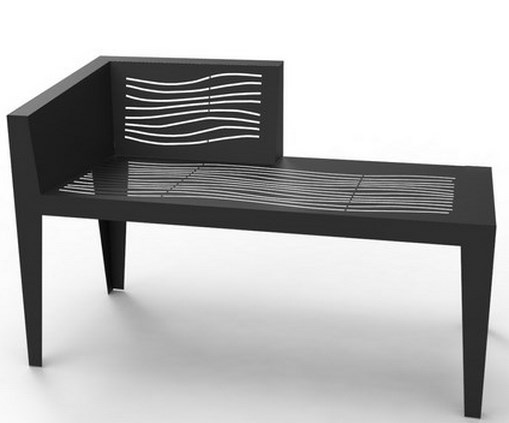 meridienne metal decoupe laser le banc public mobilier. Black Bedroom Furniture Sets. Home Design Ideas